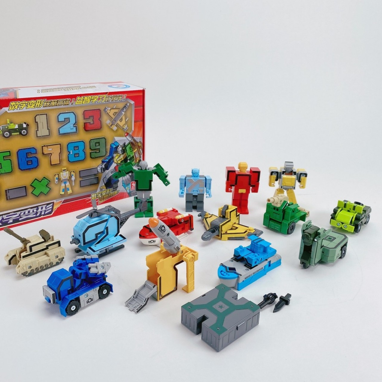 Đồ chơi chữ số biến hình robot 3 in 1