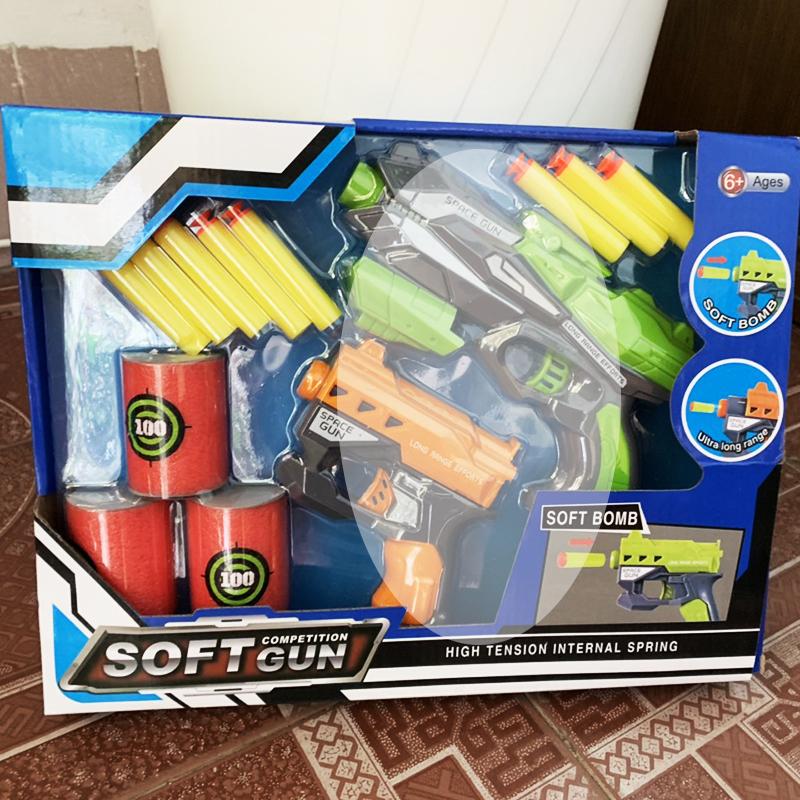 Đồ chơi súng bắn đạn xốp mút kính - SOFT Gun 826-22
