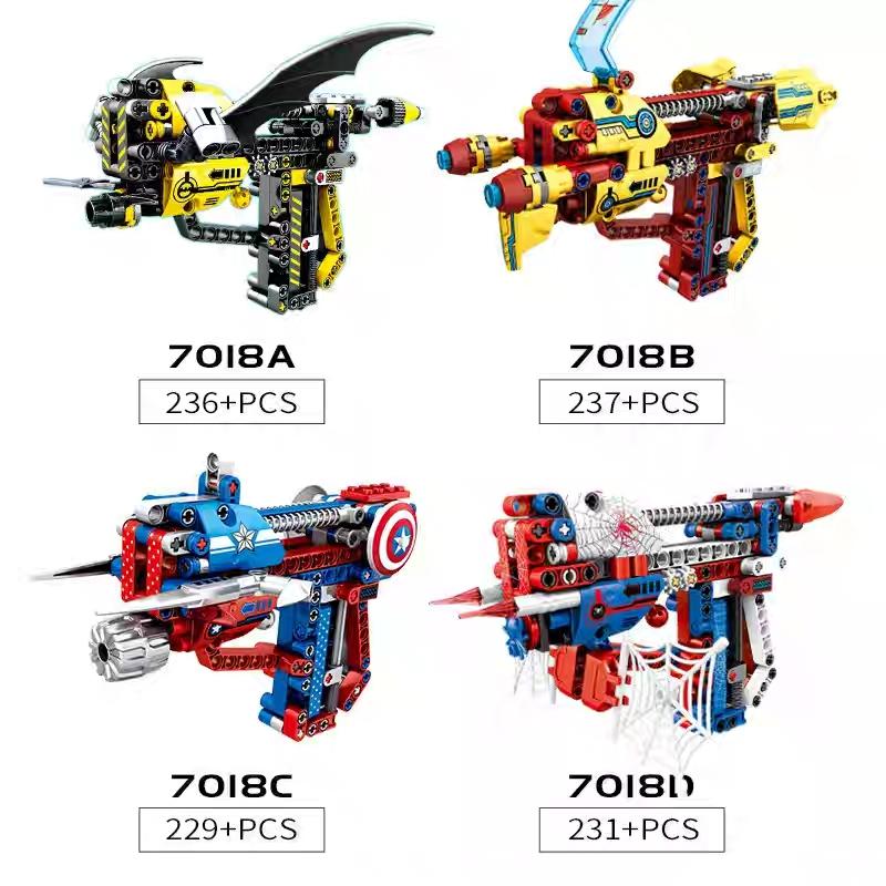 Lắp ráp Lego súng Herdes Assemble 237 miếng ghép - SY 7018B