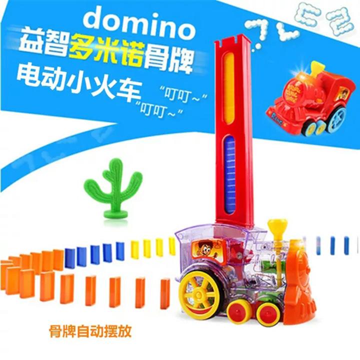 Đồ chơi tầu xếp Domino tự động - N02006A