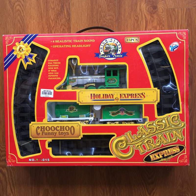 Bộ đồ chơi tầu hỏa phun khói chạy trên ray - YY015