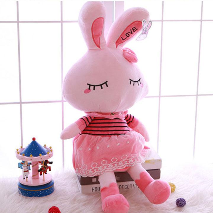 Thỏ hồng nhồi bông size 80 cm