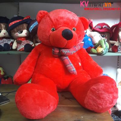 Gấu đỏ thắt nơ kẻ