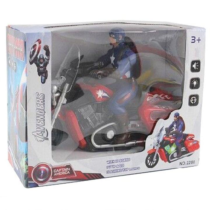 Đồ chơi xe máy chạy pin Captian America - 2288