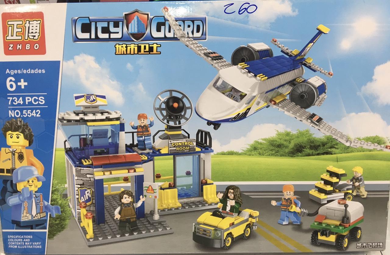 Đồ chơi lego trạm sân bay mini - ZHBO 5542