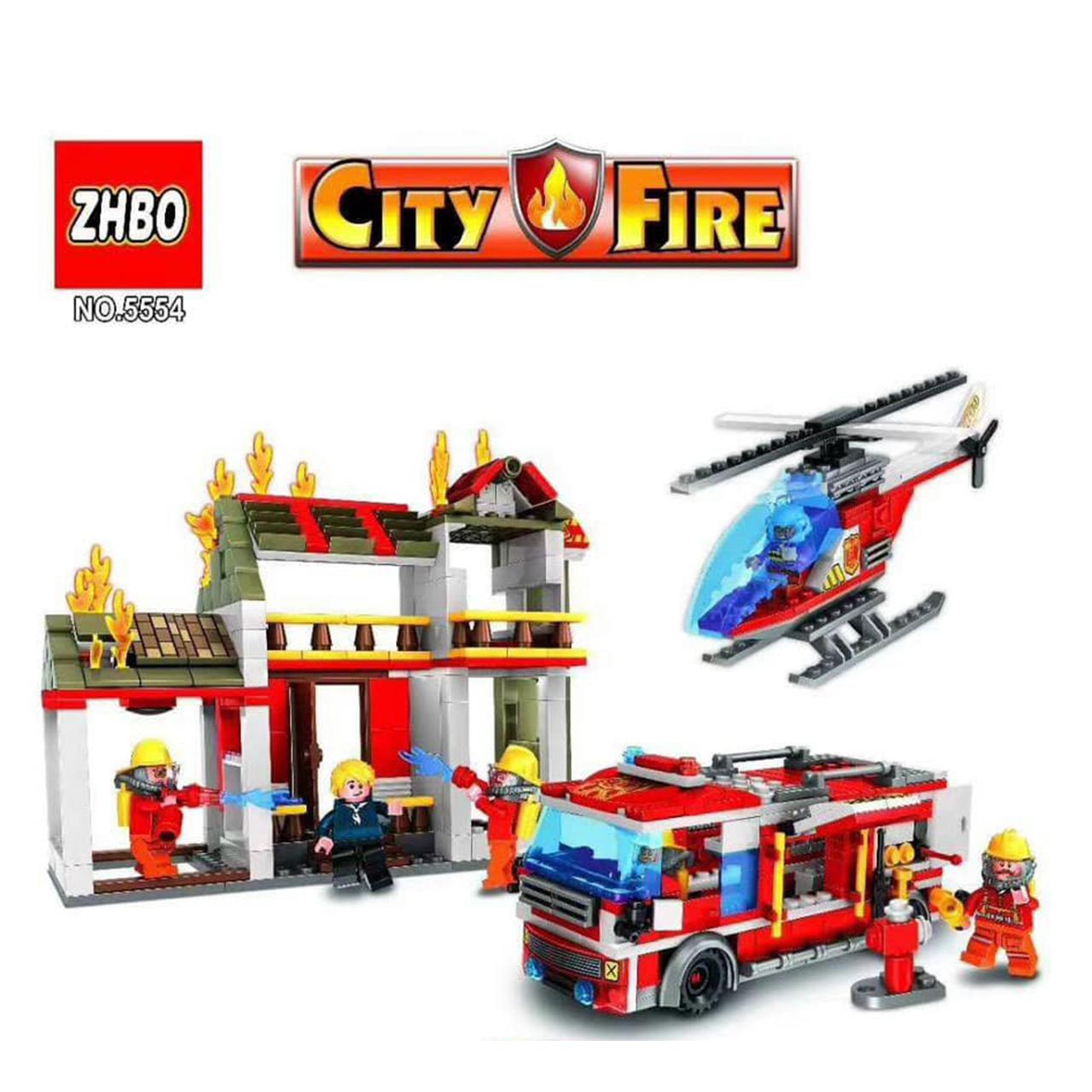 Lắp ráp Lego Fire Trạm Cứu Hỏa - ZHBO 5554