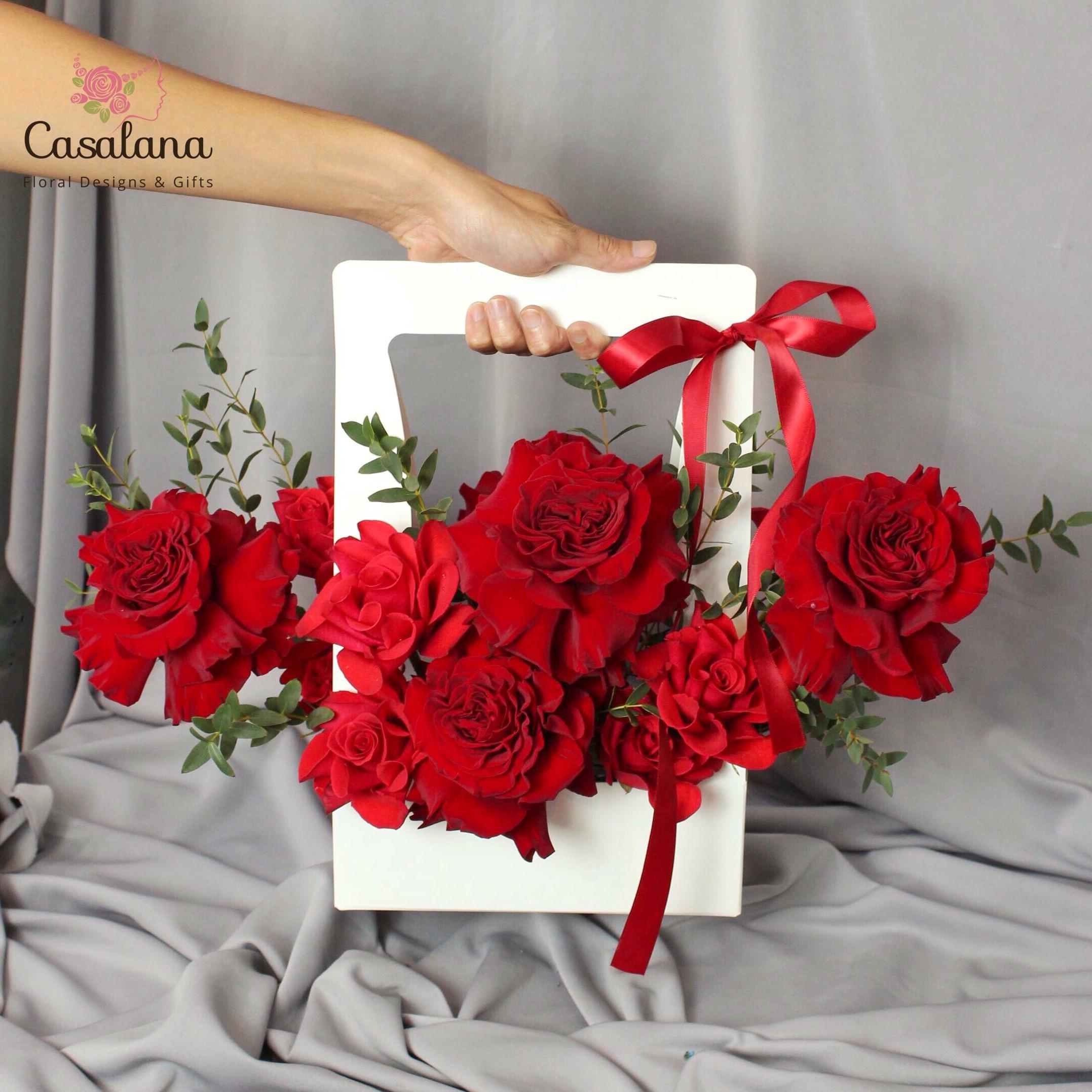 Túi hoa Valentine đỏ