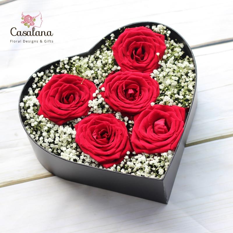 Hộp hoa trái tim BB0035