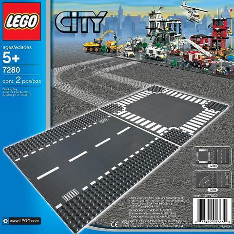 7280 LEGO® Straight & Crossroad Plates