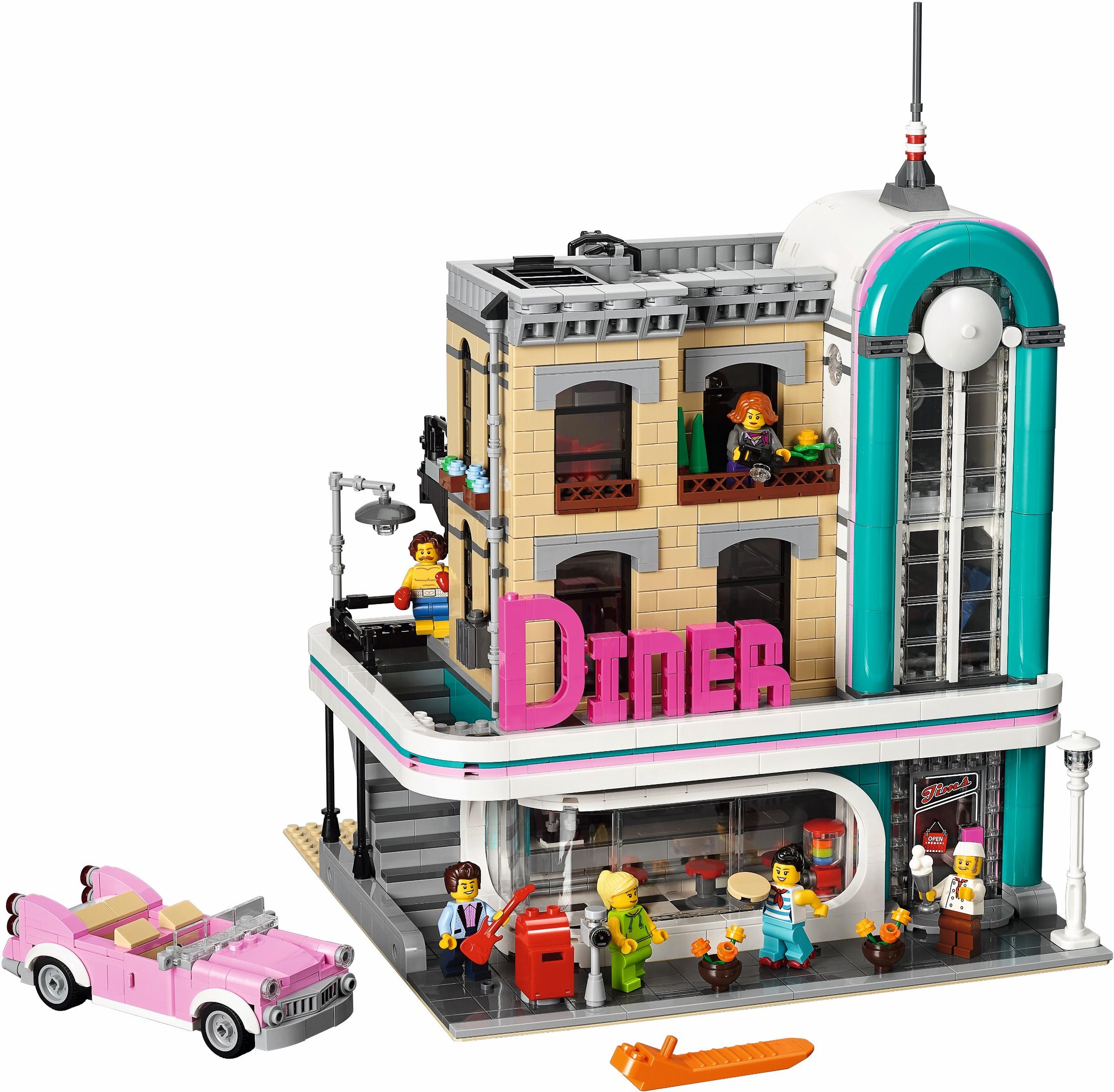 10260 LEGO Creator Downtown Diner - Bộ LEGO Bữa tối ở trung tâm thành phố