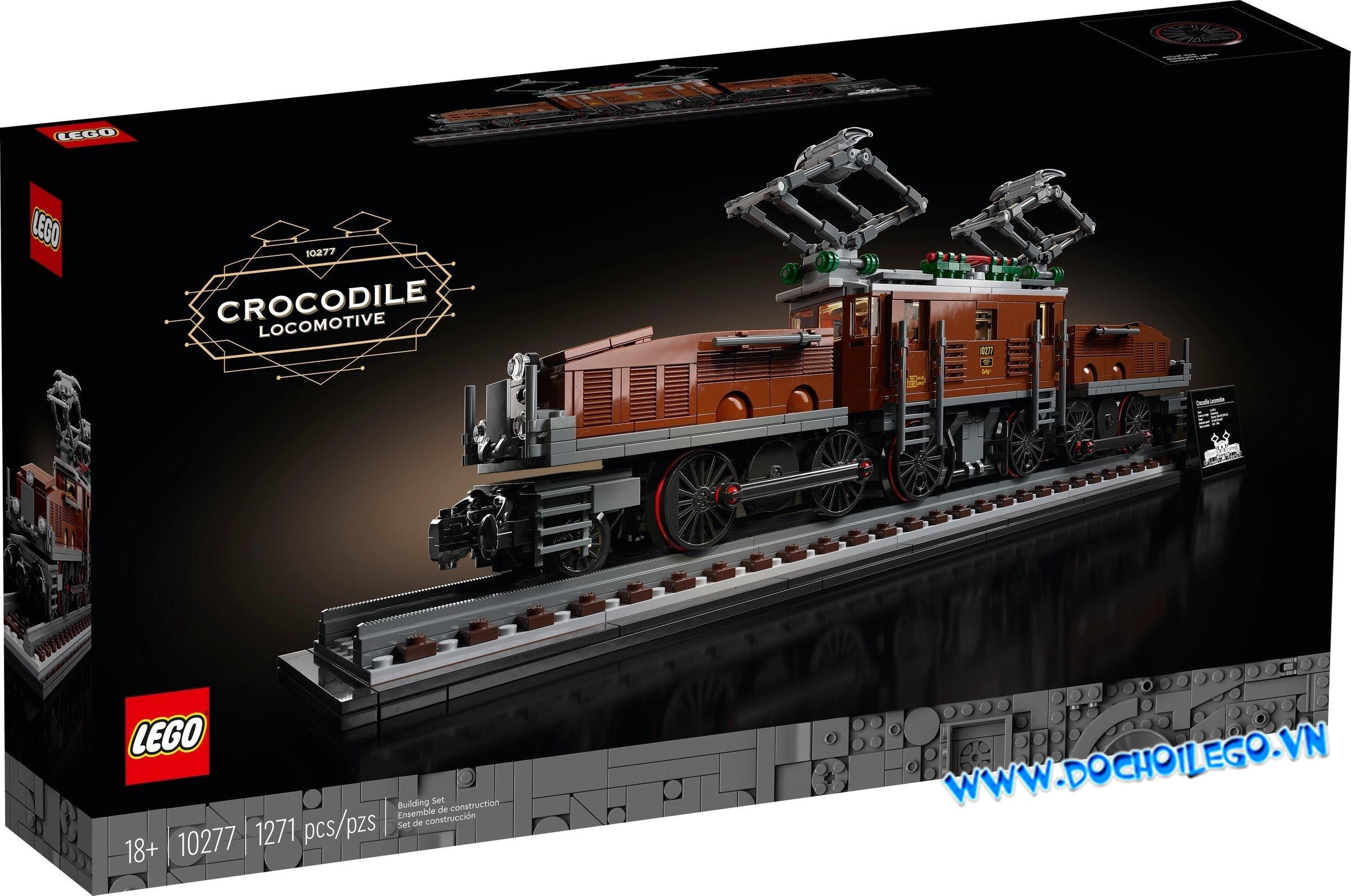 10277 LEGO Creator Expert Trains Crocodile Locomotive - Chuyến Tàu lửa/ tàu hỏa đầu máy hình cá sấu cổ điển
