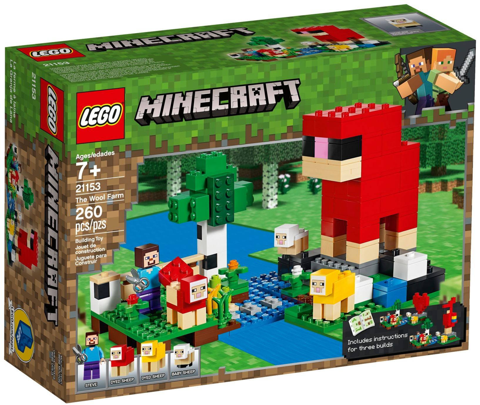 ❤️ 21153 LEGO Minecraft The Wool Farm - Bộ đồ chơi Trang trại sản xuất len