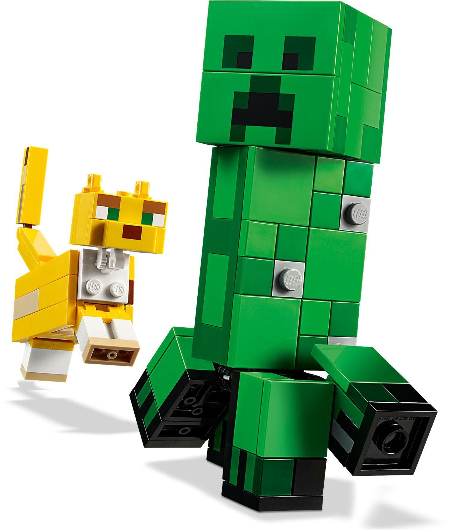 21156 LEGO Minecraft BigFig Creeper and Ocelot - Cuộc đối đầu của Creeper và mèo gấm