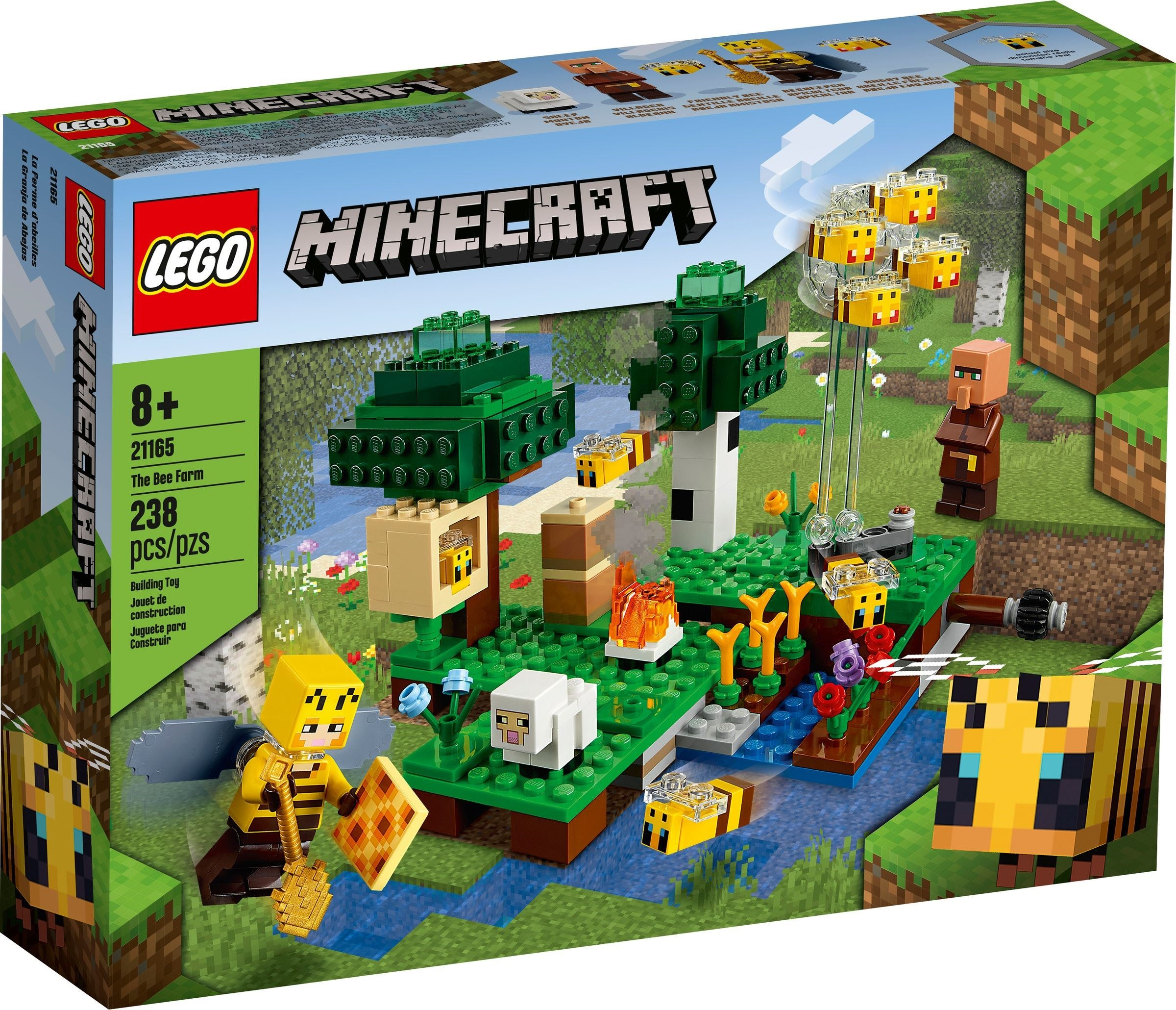 21165 LEGO Minecraft 21165: The Bee Farm _ Trại nuôi Ong