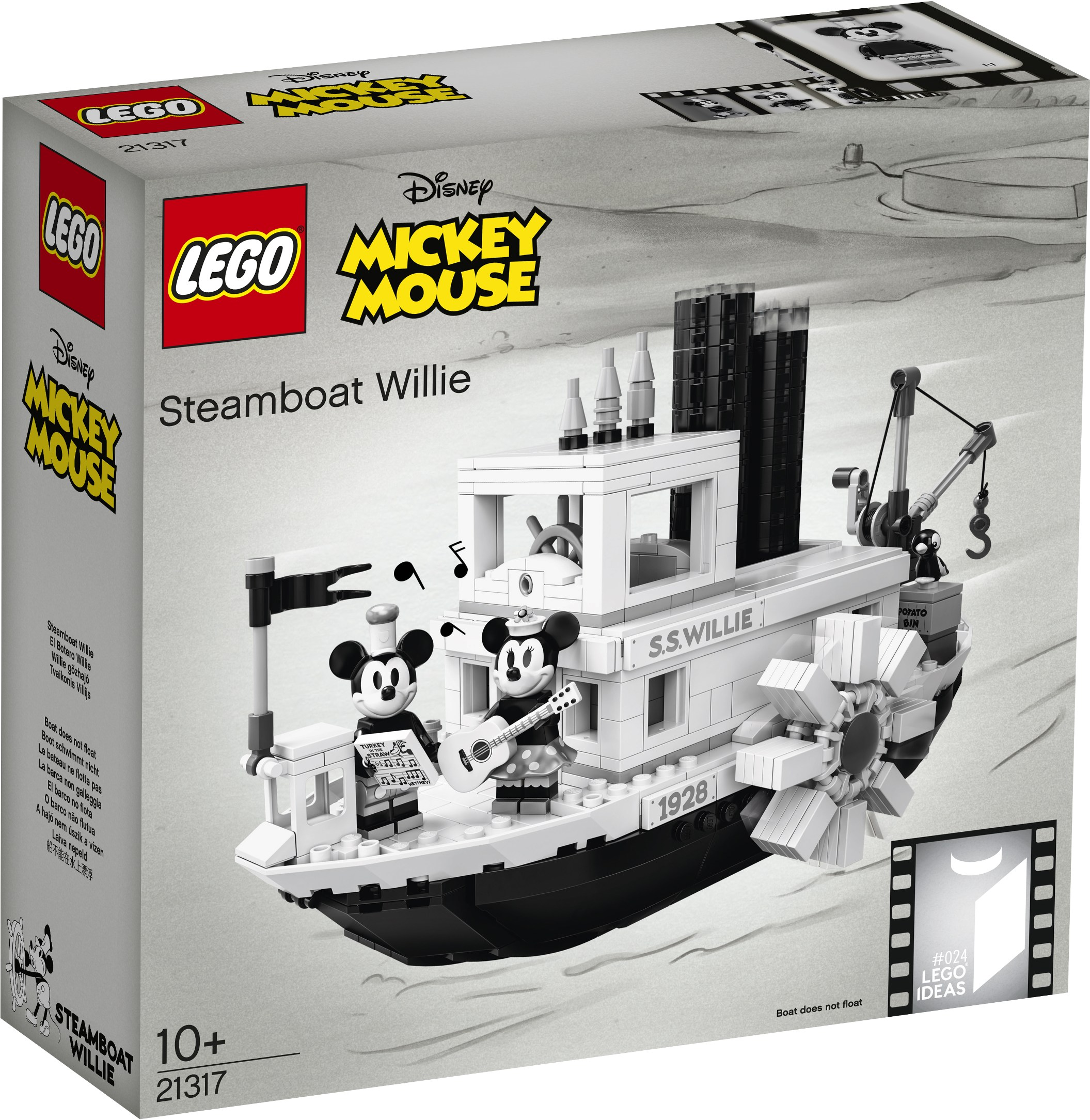 21317 Lego Ideas Disney Mickey Mouse Steamboat Willie