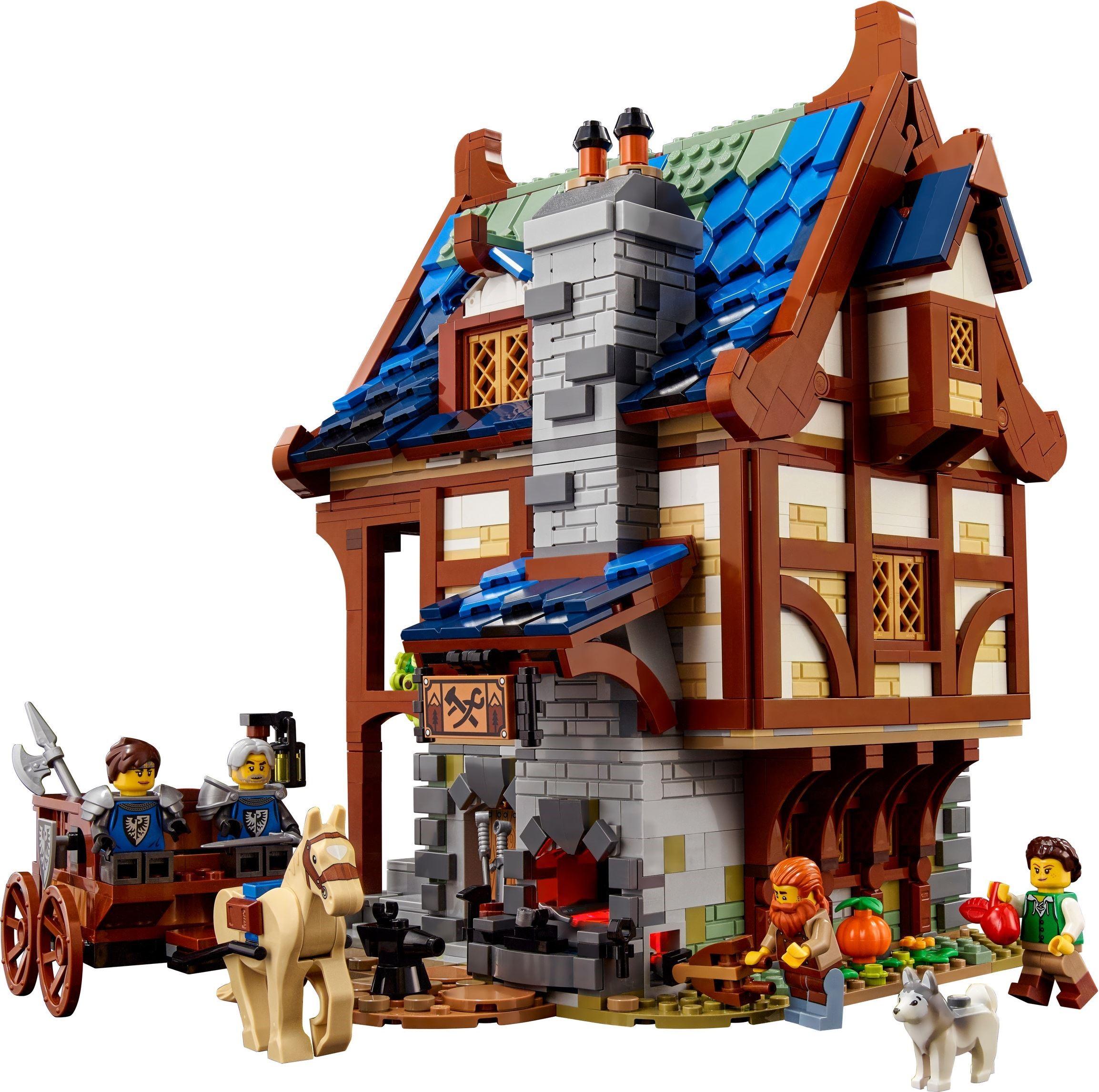 21325 LEGO Ideas Medieval Blacksmith - Đồ chơi LEGO Nhà rèn thời trung cổ.