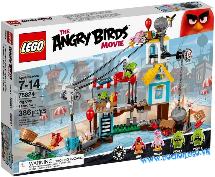 75824 LEGO® Angrybirds Pig City Teardown