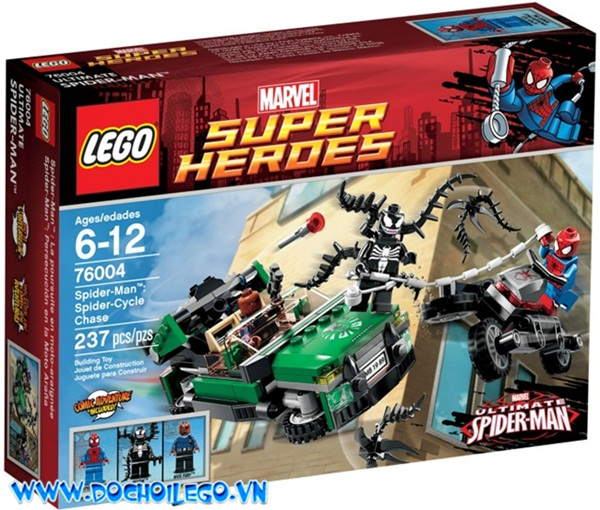 76004 LEGO® Spider man - Spider-Cycle Chase - Mẫu mới năm 2013