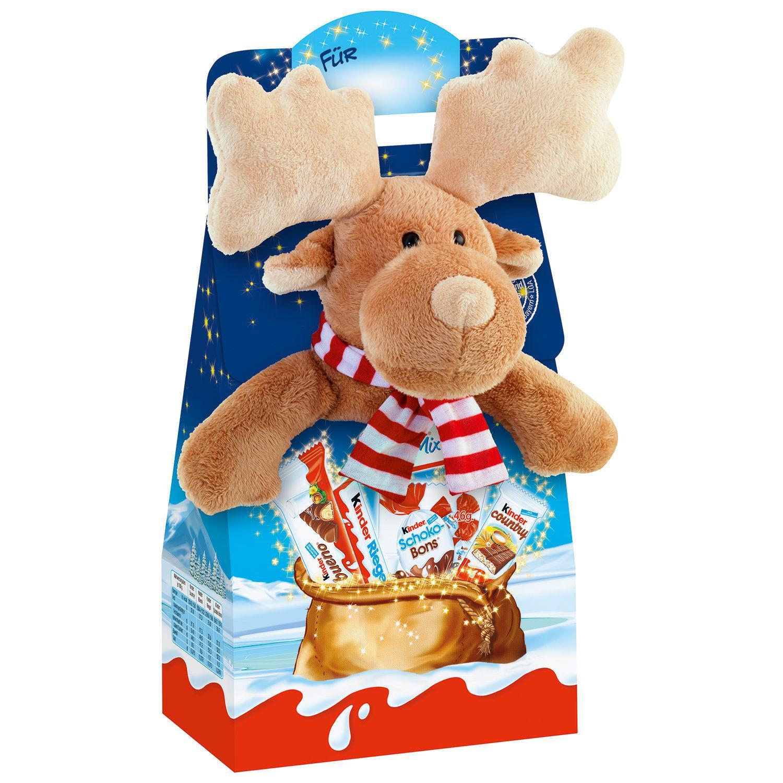 Thú bông Tuần lộc + Kẹo Chocolate Kinder