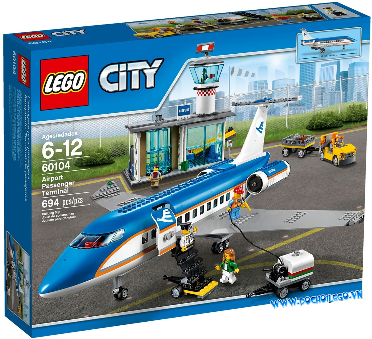 60104 Lego City Airport Terminal and the Airliner