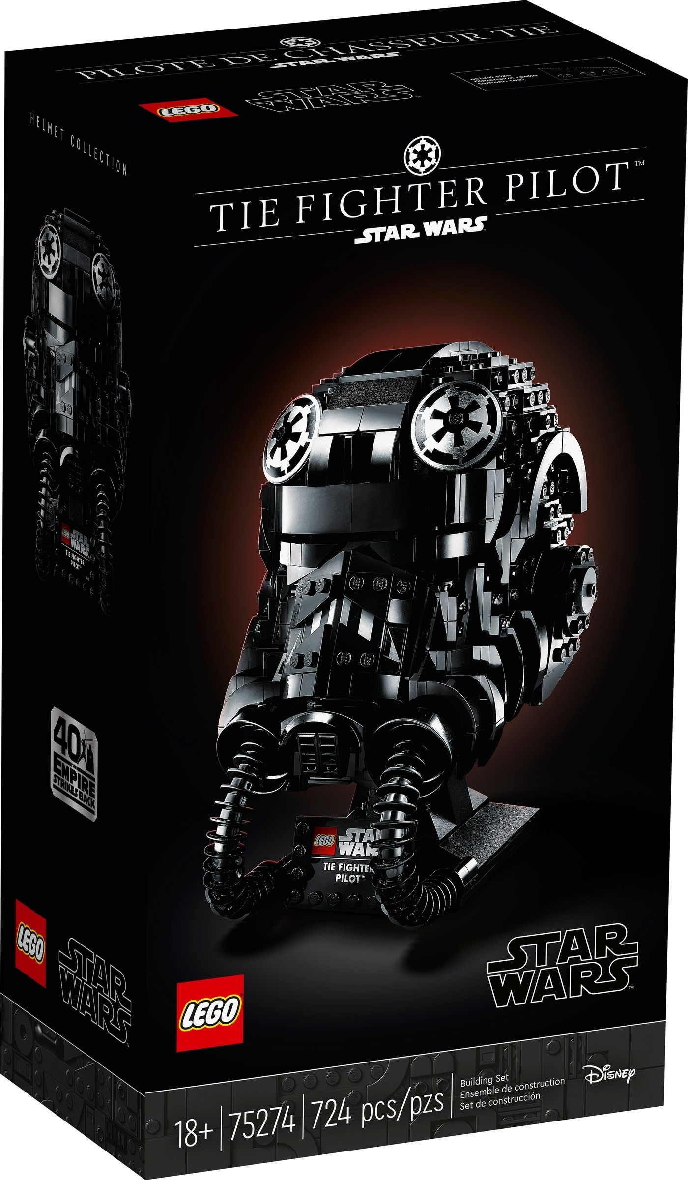 75274 LEGO Star Wars Helmet collection TIE Fighter Pilot
