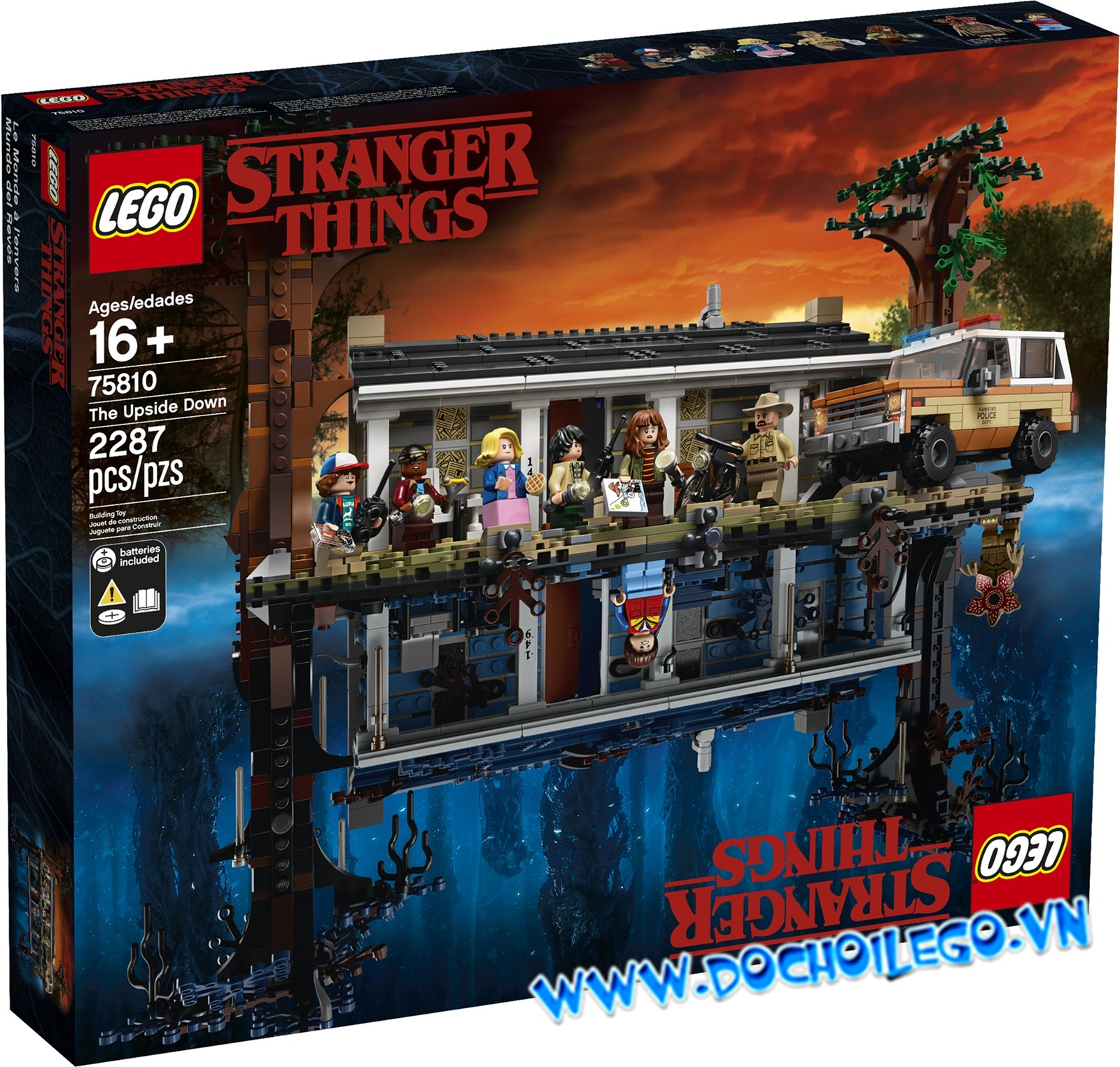 75810 LEGO Stranger things The Upside Down - Nhà up ngược.