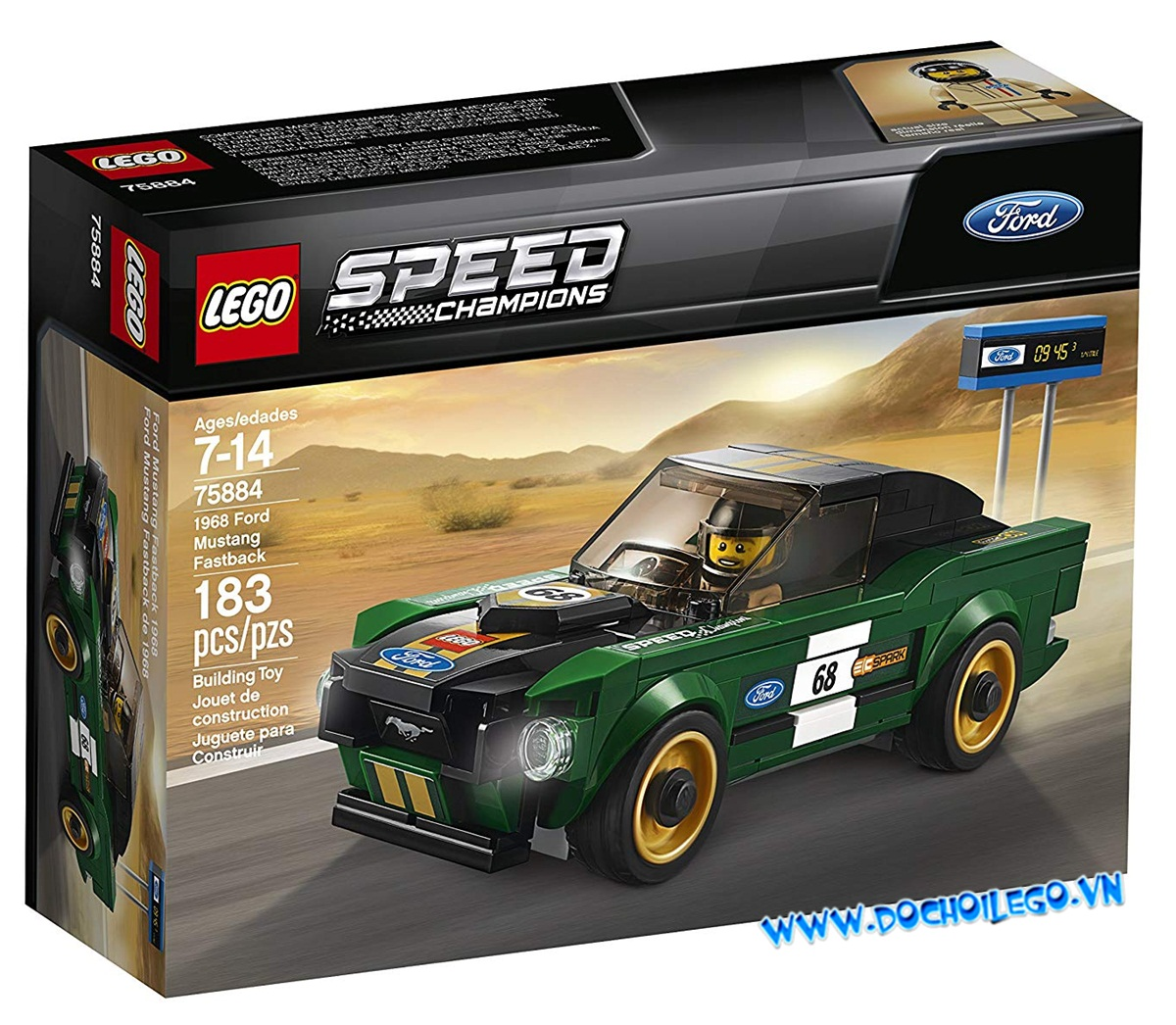 75884 LEGO® 1968 Ford Mustang Fastback