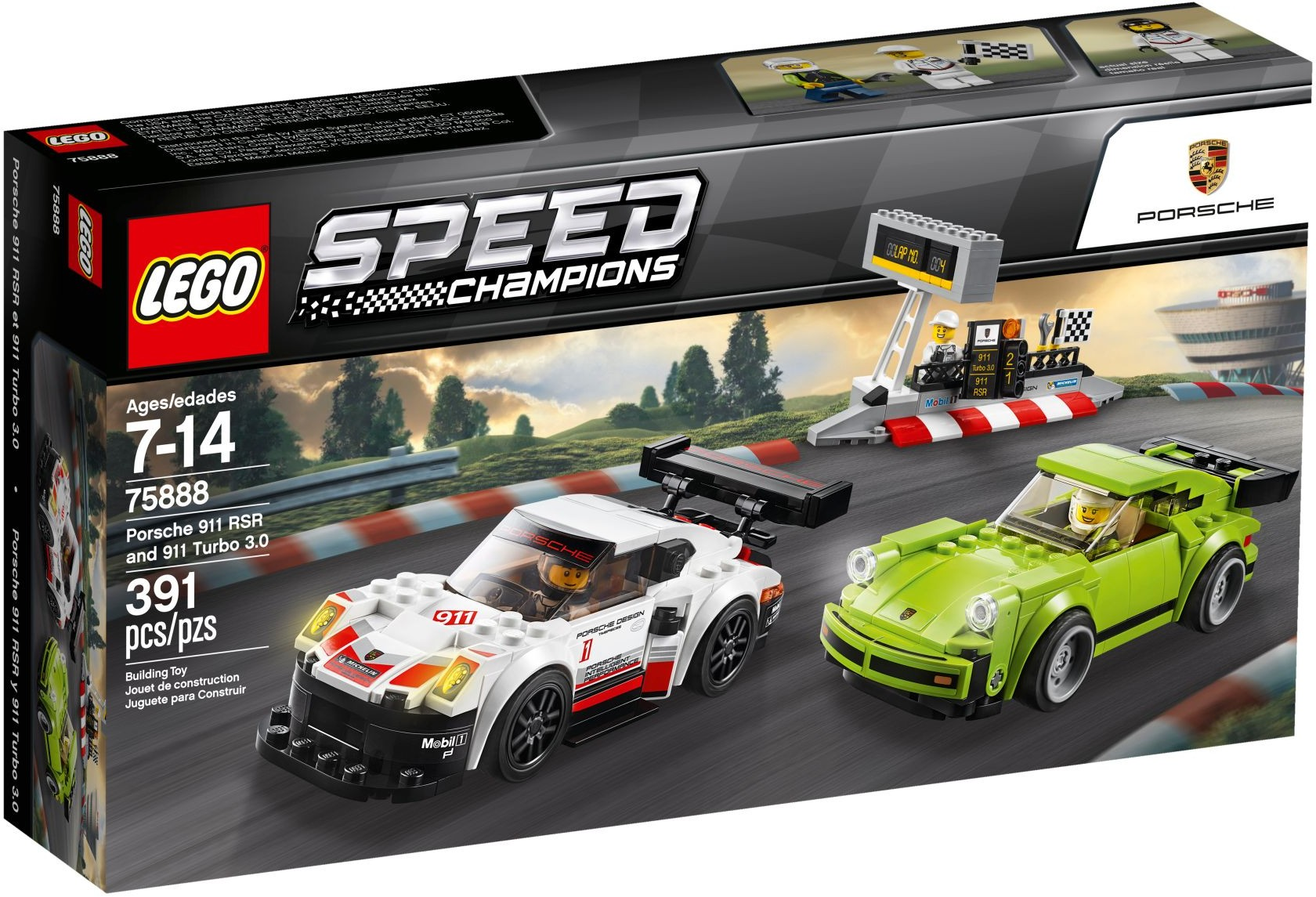 75888 LEGO Porsche 911 RSR and 911 Turbo 3.0 - Siêu xe