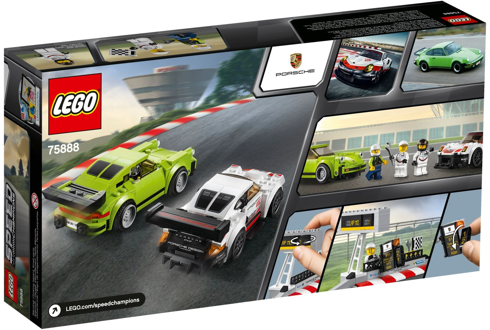 75888 LEGO Porsche 911 RSR and 911 Turbo 3.0 - Siêu xe