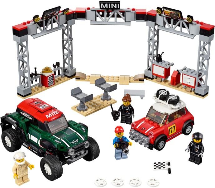 Siêu xe 75894 LEGO Speed Champions 1967 Mini Cooper S Rally and 2018 Mini John Cooper Works Buggy