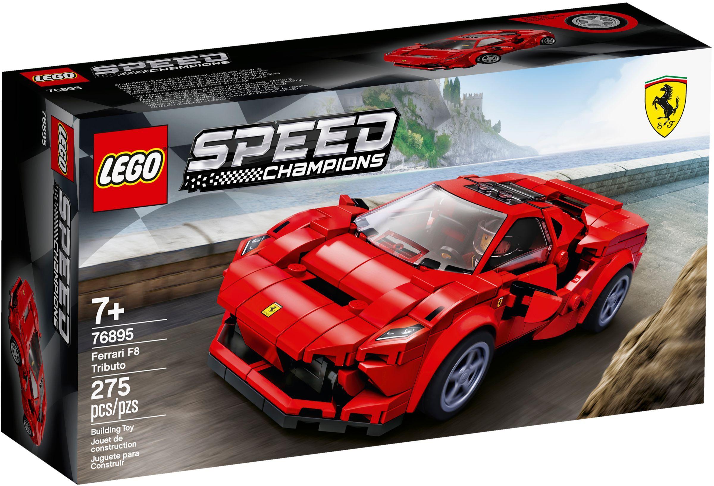 76895 LEGO Speed Champions Ferrari F8 Tributo - Xe mô hình Ferrari F8 Tributo