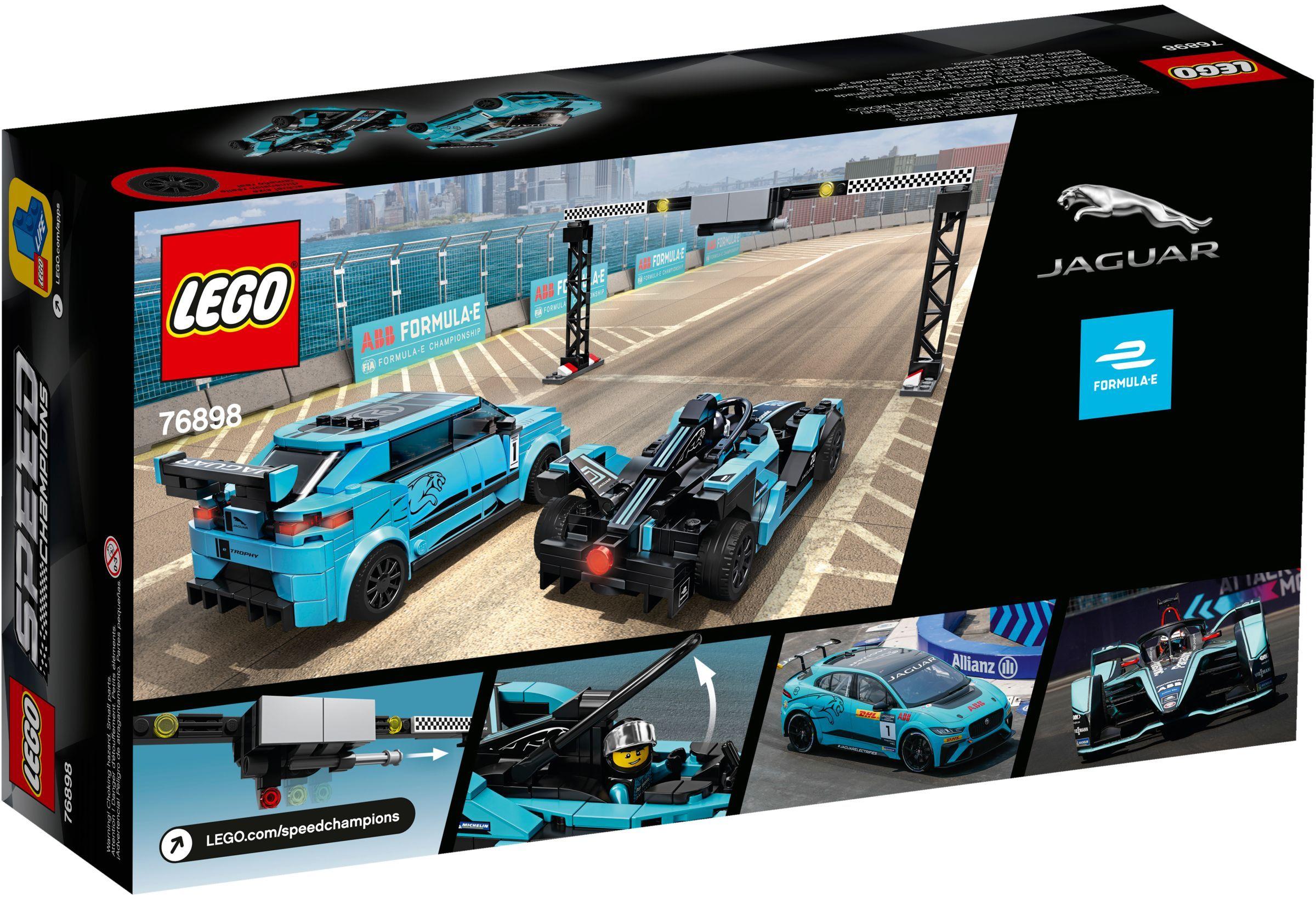 76898 LEGO Speed Champions Formula E Panasonic Jaguar Racing GEN2 Car & Jaguar I-PACE eTROPHY - Siêu xe đua