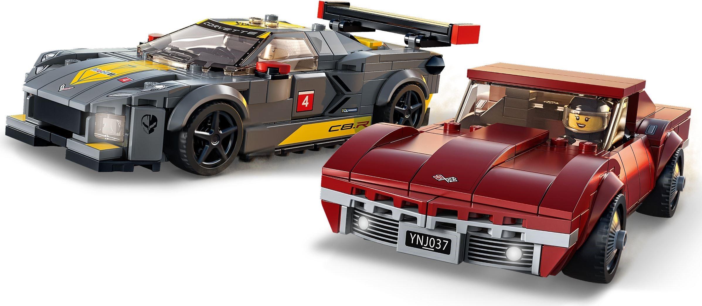 76903 LEGO Speed Champions Chevrolet Corvette C8.R Race Car and 1968 Chevrolet Corvette