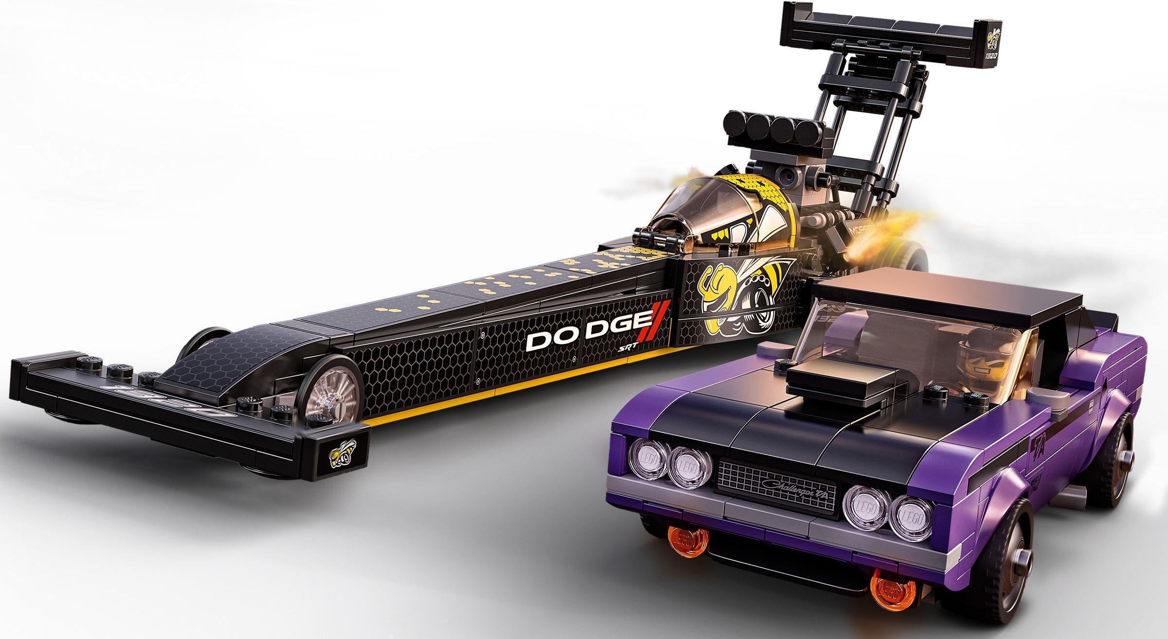 76904 LEGO Speed Champions Mopar Dodge//SRT Top Fuel Dragster and 1970 Dodge Challenger T/A