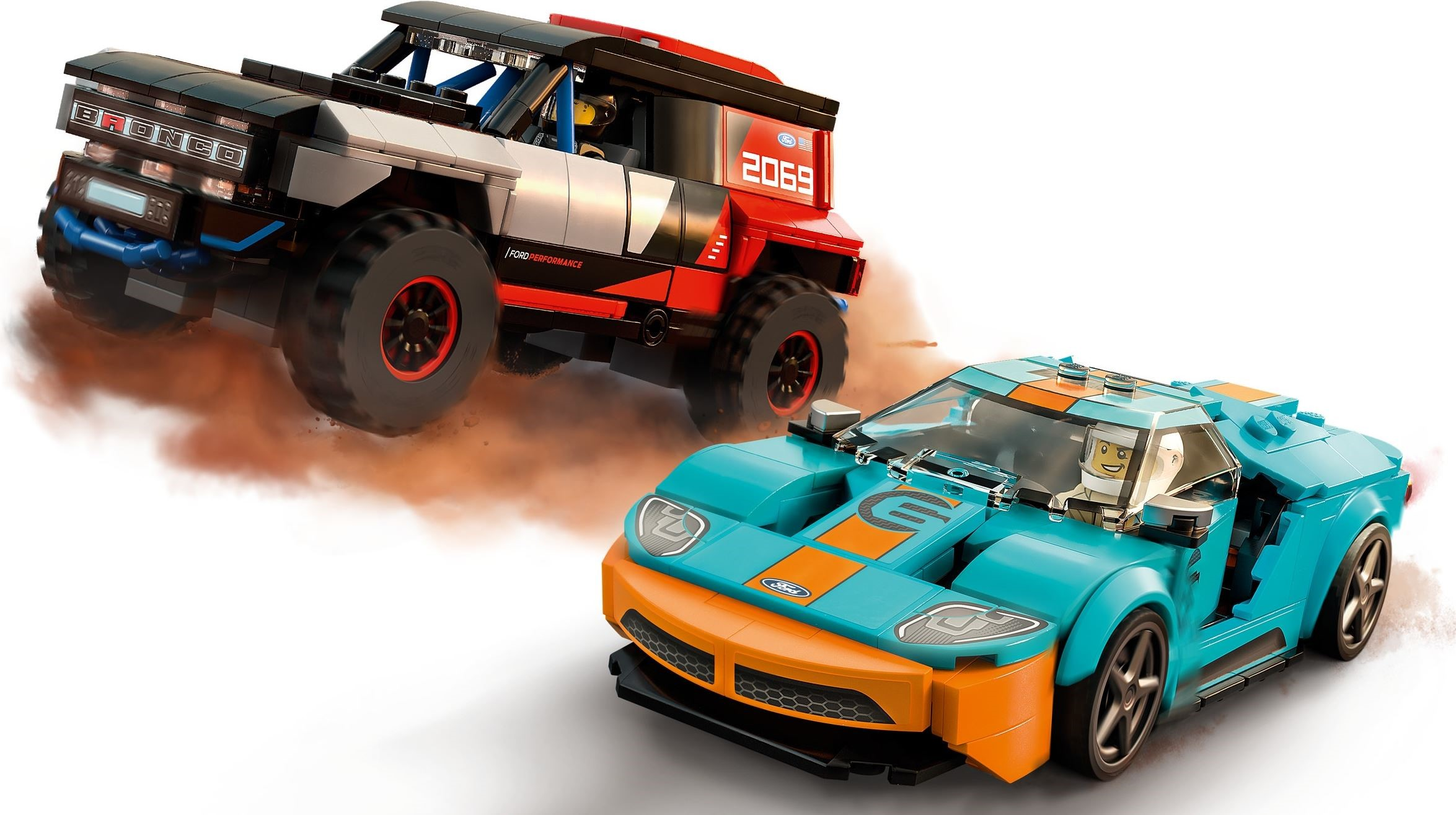 76905  LEGO Speed Champions: Ford GT Heritage Edition and Bronco R - Đồ chơi LEGO