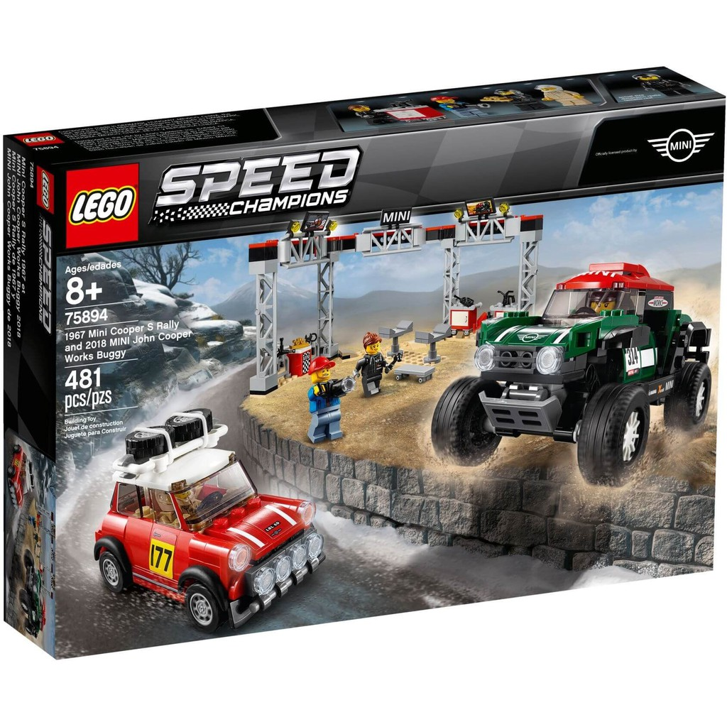 Siêu xe 75894 LEGO Speed Champions 1967 Mini Cooper S Rally and 2018 Mini John Cooper Works Buggy