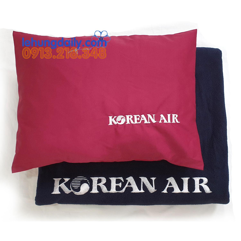 Bộ Chăn Gối Hàng Không Hàn Quốc Korean Air