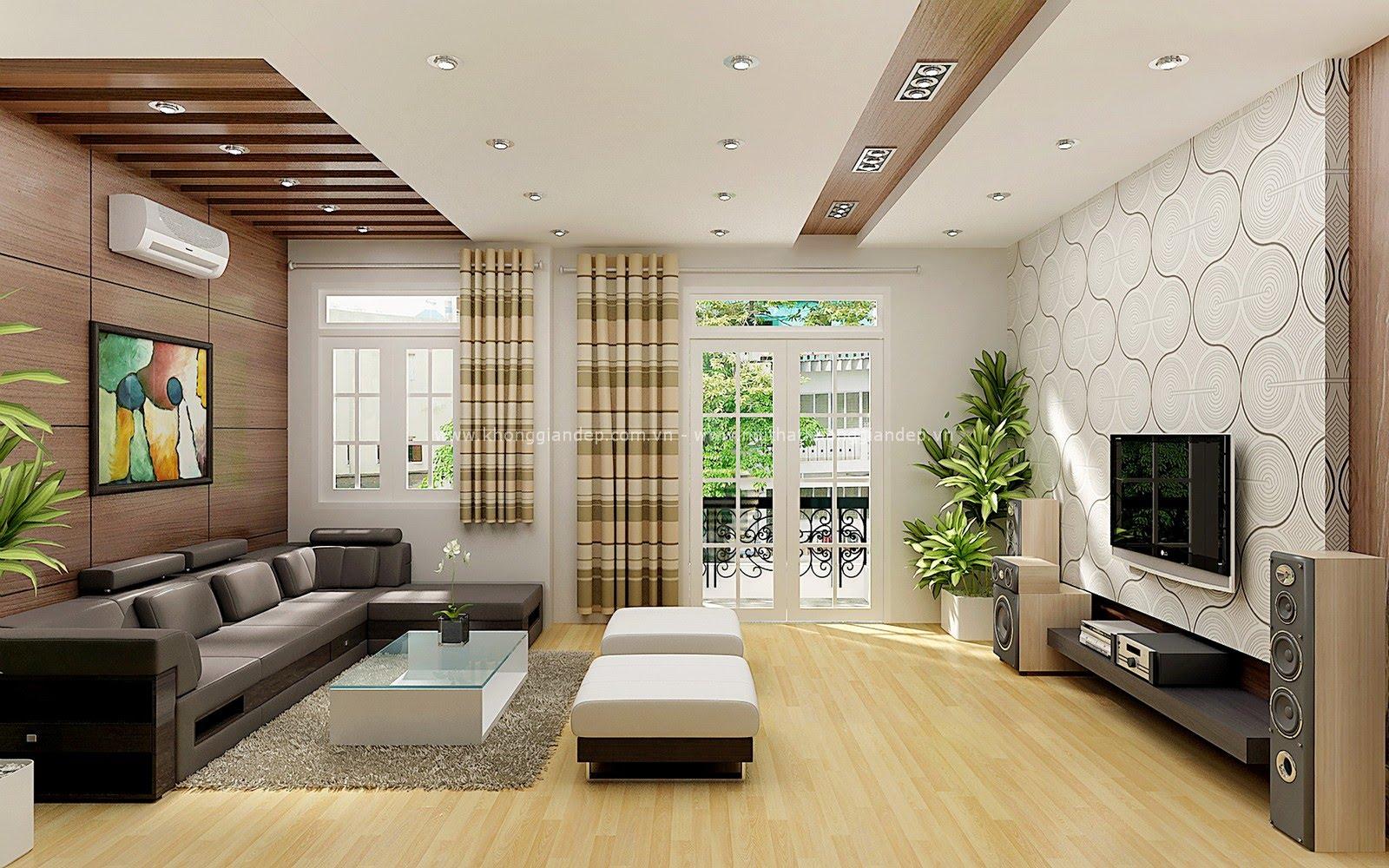 Cách tăng sinh khí cho phòng khách với cây xanh