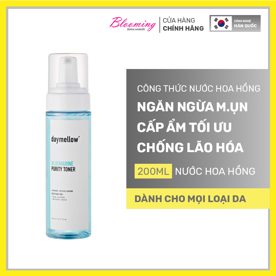 Nước hoa hồng Daymellow Blue Marrine Purity toner 200ml