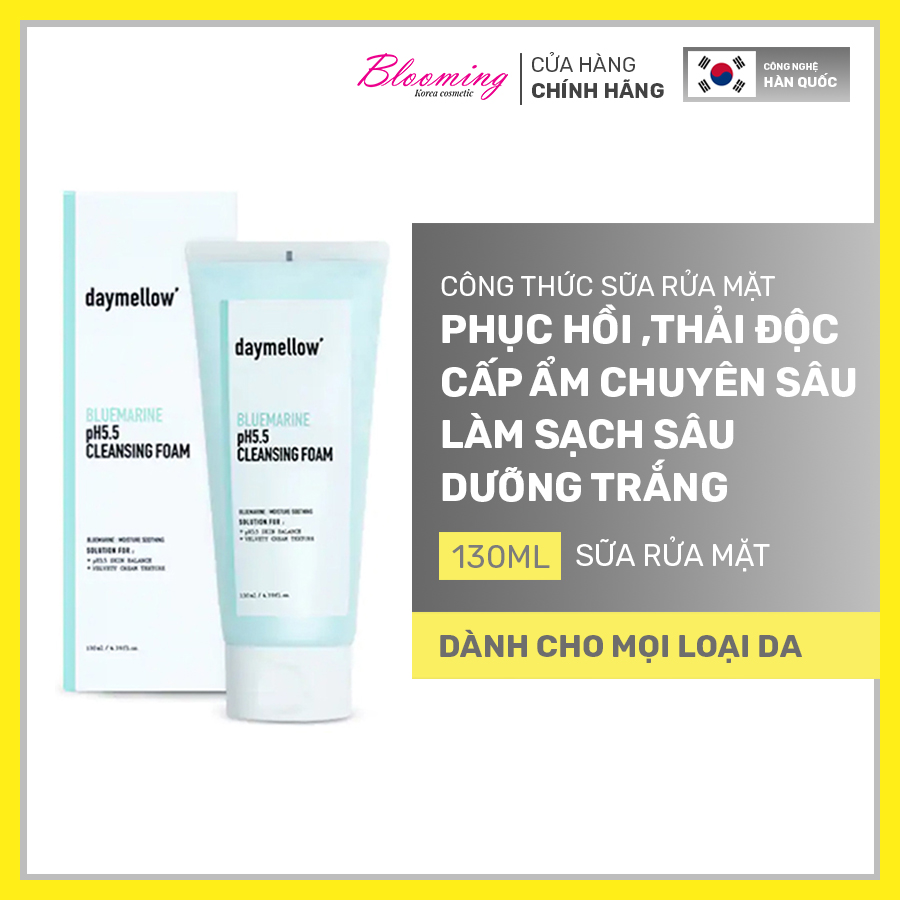 Sữa Rửa Mặt Daymellow Blue Marine Ph5.5 Cleansing Foam 130ml