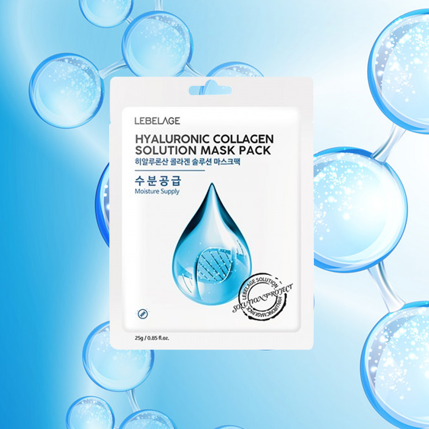MẶT NẠ LEBELAGE HYALURONIC COLLAGEN SOLUTION MASK PACK ( mặt nạ collagen)