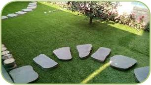 Decorating Garden with Artificial Green Grass
