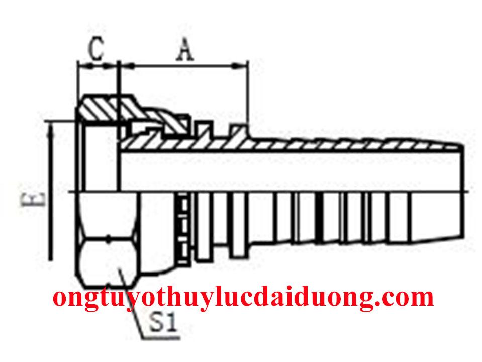 Đầu nối ống tuy ô thủy lực 1
