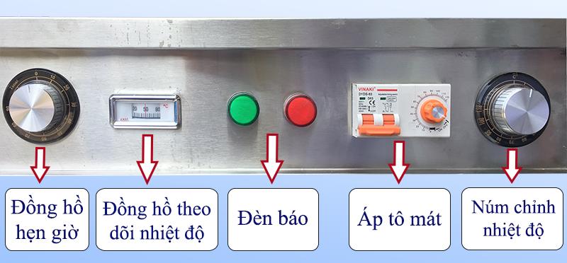 bảng điều khiển tủ nấu cơm