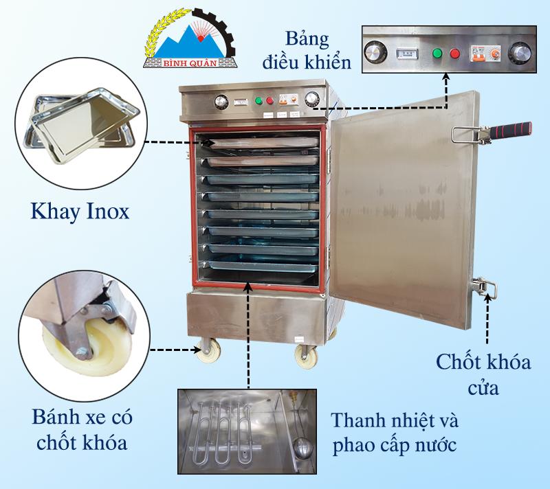 thiết kế tủ nấu cơm