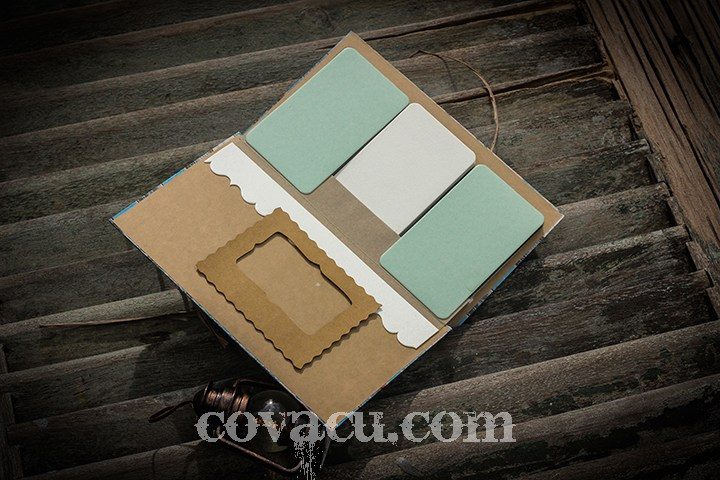 Fly album handmade Blue Pastel