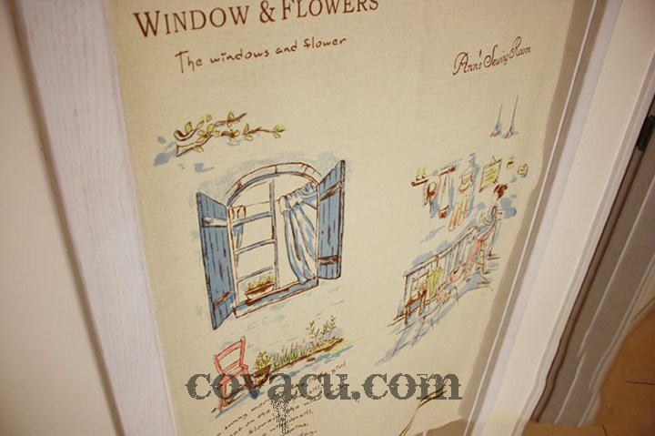 Vải Canvas Windows and flowers