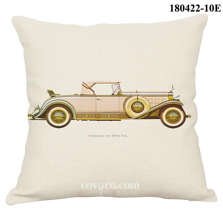 bao gối sofa retro car