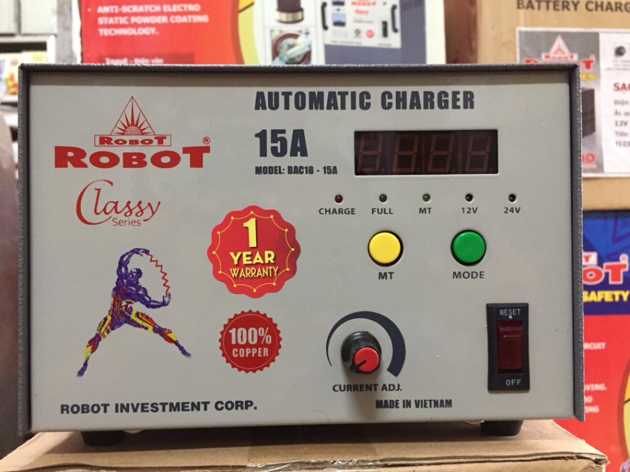 Sạc Tự Động Robot 15A (Dây đồng)