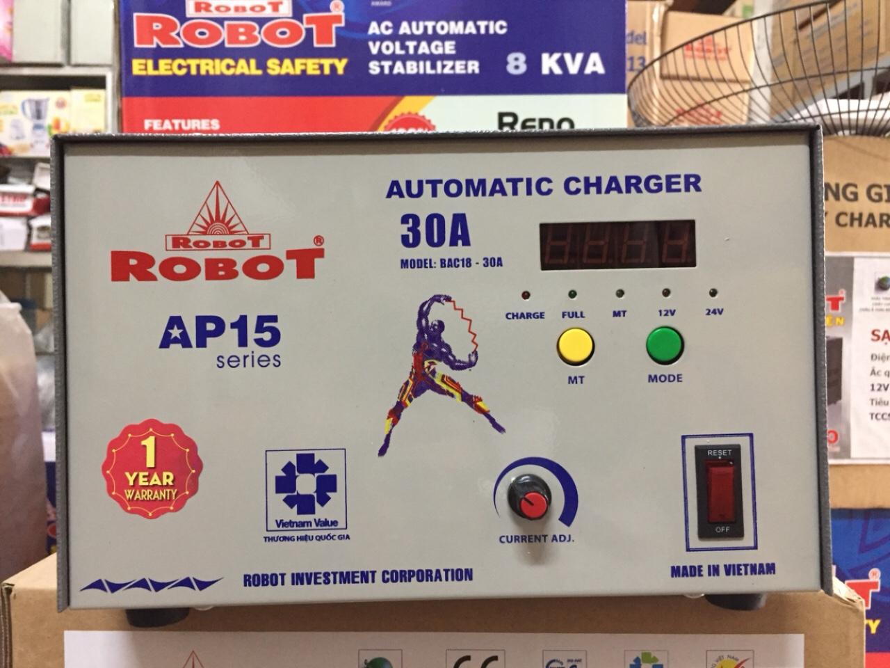 Sạc Tự Động Robot 30A